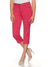 Stooker Slim Fit Stretch Capri For Ladies-Carrot Red-F176
