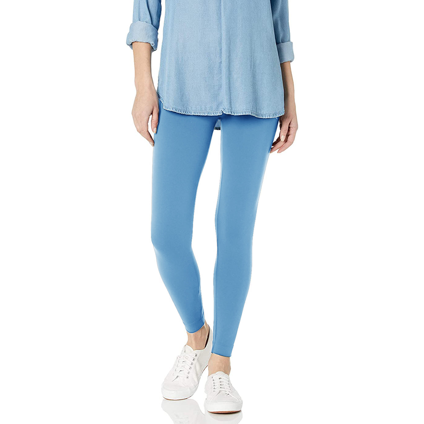 NK Leggings For Women-Sky Blue-NA11075