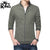 Drift King Terry Fleece Full Zipper Baseball Jacket For Men-Light Olive-NA246