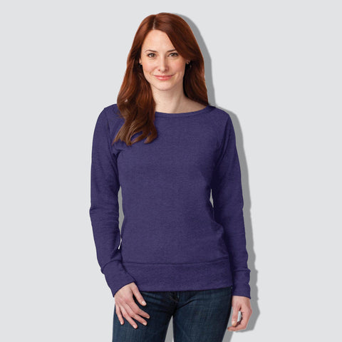 "B Quality Ladie's ""EXIST"" Stylish Blouse-Purple-BE154"