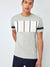 NK Summer Crew Neck Tee Shirt For Men-Grey Melange With  Multi Panel-SP2842