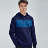 Next Fleece Pullover Hoodie For Men-Purple With Blue Panel-SP1568