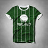 Tall & Long Size Rugby Crew Neck T Shirt For Men-Dark Green-(TALSRS20)