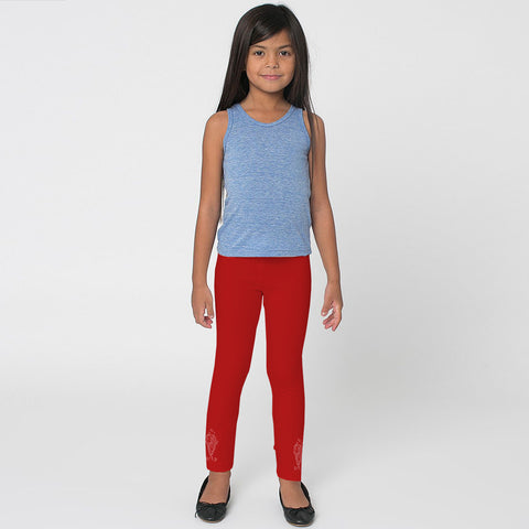 Kid's Jersey Stylish Tights Red-(D04)