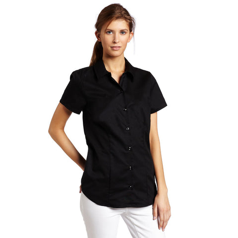 Uneek Half Sleeve Casual Shirt For Women-Black-BE956