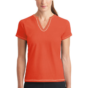 Ladie's Zoey Beth Stylish Tops-Corel Orange-To5