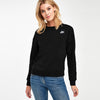 NK Fleece Crew Neck Sweatshirt For Ladies-Black Melange-SP1146