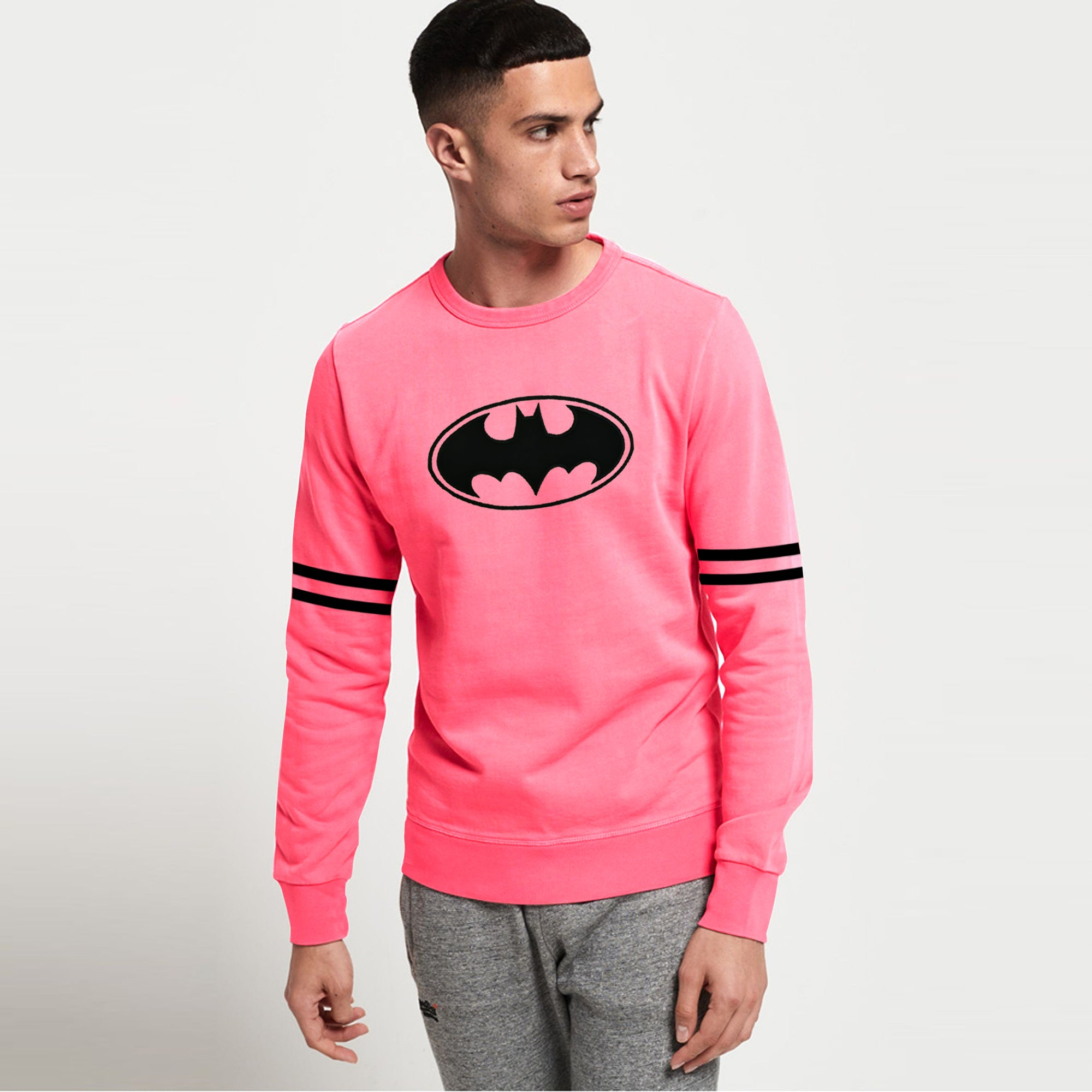 Copy of Six Flags Crew Neck Fleece Sweatshirt For Men-Pink-SP1121