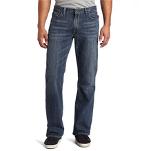 Bootcut Straight Fit Denim For Men-Charcoal Navy Feded-Bootcut 01