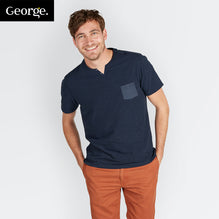 George T Shirt For Men Cut Label-Dark Blue-BE265