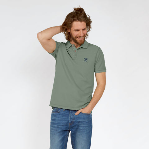 Fat Face Polo For Men Cut Label-Light Green-BE2310