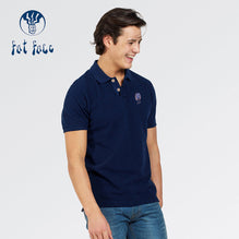 Fat Face Polo For Men Cut Label-Blue-BE2531