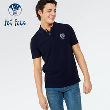 Fat Face Polo For Men Cut Label-Dark Blue-BE2530