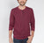 Next Faded Henley Long Sleeve Shirt For Men-Light Maroon-BE6093