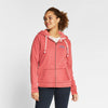 Fat Face Fleece Zipper Hoodie For Women-Light Pink-NA6811