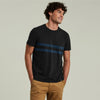 American Eagle Crew Neck Pocket Style Tee Shirt For Men-Charcoal Striper-NA10790
