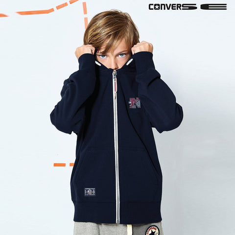 "Kid's Cut Label ""Next"" Zipper Hoodie Fleece -Navy-CLH20"