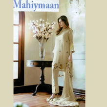 Mahiymaan Net Unstitched 3 Piece Suit For Ladies-NS10