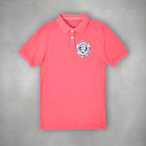 "Men's ""SPRINGFIELD"" Cut Label Light Red Polo Shirt1212"