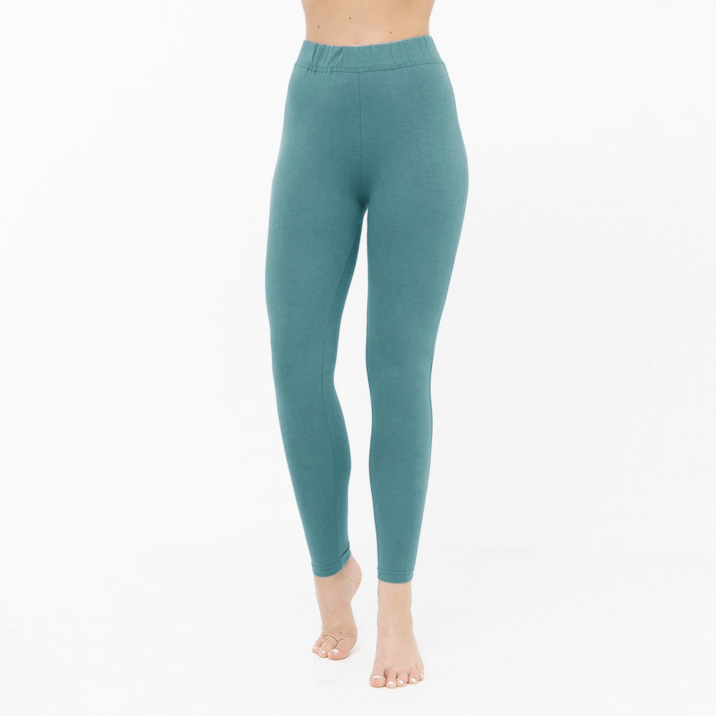 NK Leggings For Women-Cyan Blue-NA11061