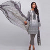 AUJ Lawn Collection 3 Piece Un-stitch Suit For Ladies-NA9424