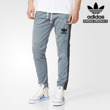 Adidas Cotton Trouser For Men-Bond Blue With Black & White Stripes-BE984
