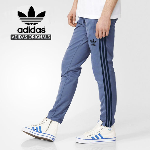 Adidas Cotton Trouser For Men-Dark Blue With Dark Navy Stripes-BE1073