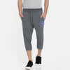 A&F Fleece Fit 3 Quarter Short For Men-Charcoal Melange-BE7910