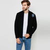 A&F Fleece Full Zipper Mock Neck Jacket For Men-Black-BE7698