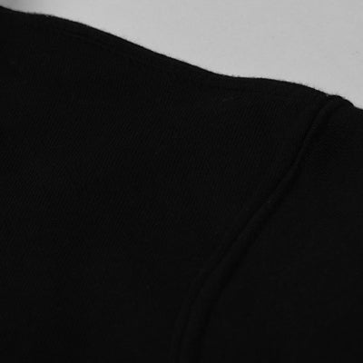 A&F Fleece Full Zipper Mock Neck Jacket For Men-Black-NA7793