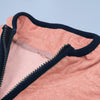 A&F Fleece Full Zipper Mock Neck Jacket For Men-Coral Pink Melange-NA7775