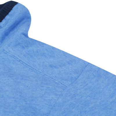 A&F Fleece Full Zipper Mock Neck Jacket For Men-Blue Melange-BE7580