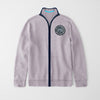 A&F Fleece Full Zipper Mock Neck Jacket For Men-Light Orchid-BE7703