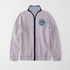 A&F Fleece Full Zipper Mock Neck Jacket For Men-Light Orchid-NA7776