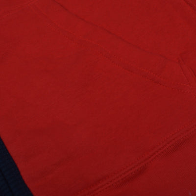 brandsego - A&F Fleece Full Zipper Mock Neck Jacket For Men-Red-NA7794