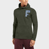 A&F Fleece Pullover Hoodie For Men-Olive Melange-BE7777