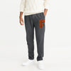 A&F Fleece Straight Fit Jogger Trouser For Men-Charcoal Melange-BE7840