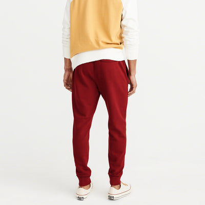 A&F Slim Fit Fleece Jogger Trouser For Men-Red-NA7710