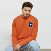 brandsego - A&F Terry Fleece Crew Neck Sweatshirt For Men-Orange-BE7690