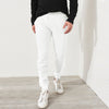 A&F Terry Fleece Slim Fit Jogger Trouser For Men-White-BE7817