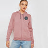 A&F Terry Fleece Zipper Hoodie For Ladies-Light Pink-BE7736