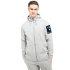 A&F Terry Fleece Zipper Hoodie For Men-Grey Melange-BE7909