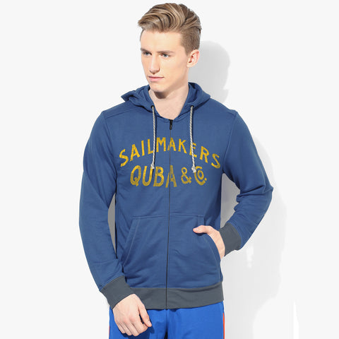 "Mens Cut Label ""Next"" Pullover Hoodie Fleece -Blue-CLH28"