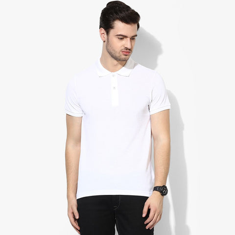Next Polo Shirt For Men-White-BE790