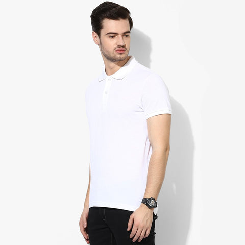 B Quality K12 Polo Shirt For Men-White-BE790