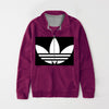 Adidas Fleece Full Zipper Mock Neck Jacket For Men-Magenta-NA10563