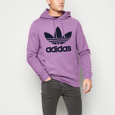 Adidas Fleece Pullover Hoodie For Men-Light Purple-NA10273
