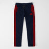 brandsego - Adidas Single Jersey Regular Fit Trouser For Men-Dark Navy With Red Stripes-NA9261