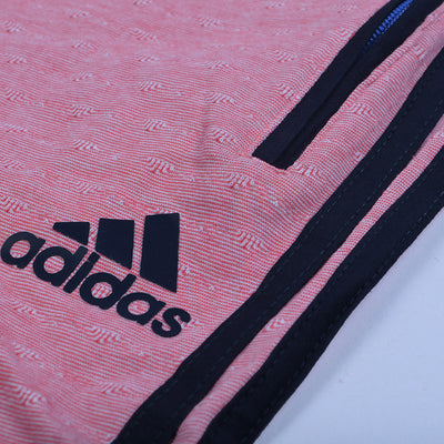 Adidas Single Jersey Regular Fit Trouser For Men-Light Pink With Dark Navy Stripes-NA8726