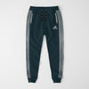 Adidas Single Jersey Slim Fit Jogger Trouser For Men-Dark Blue Melange With Grey Stripes-NA8258